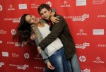 "Colombian actress Catalina Sandino, left, and Michael Cera, cast members in ""Magic Magic,"" pose together at the premiere of the film at the 2013 Sundance Film Festival, Tuesday, Jan. 22, 2013, in Park City, Utah. (Photo by Chris Pizzello/Invision/AP)"